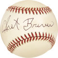 Autographs:Baseballs, Chet Brewer Single Signed Baseball....