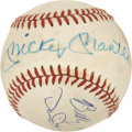 Autographs:Baseballs, Mickey Mantle and Family Multi-Signed Baseball....