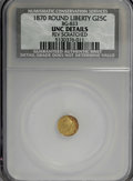 California Fractional Gold: , 1870 25C Liberty Round 25 Cents, BG-833, Low R.6,--ReverseScratched--NCS. Unc Details. NGC Census: (0/2). PCGS Population ...