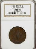 Colonials: , 1788 1C Massachusetts Cent, Period VF25 NGC. NGC Census: (0/0).PCGS Population (40/245). (#311)...