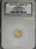 California Fractional Gold: , 1855 $1 Liberty Octagonal 1 Dollar, BG-533, Low R.4,--ImproperlyCleaned--NCS. AU Details. NGC Census: (0/10). PCGS Populat...