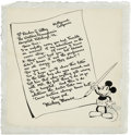 Original Comic Art:Illustrations, Mickey Mouse Illustration Original Art (undated)....