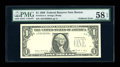 Error Notes:Foldovers, Fr. 1914-A $1 1988 Federal Reserve Note. PMG Choice About Unc 58EPQ.. ...