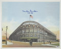Baseball Collectibles:Others, Duke Snider Signed Ebbets Field Lithograph....