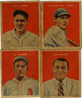 Baseball Cards:Lots, 1932 R328 U.S. Caramel Quartet (4) ... (Total: 4 cards)