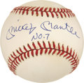 "Autographs:Baseballs, Mickey Mantle ""No. 7"" Single Signed UDA Baseball...."