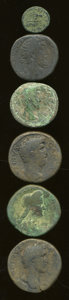 Ancients:Ancient Lots  , Ancients: Lot of six Roman Imperial AE.... (Total: 6 coins)
