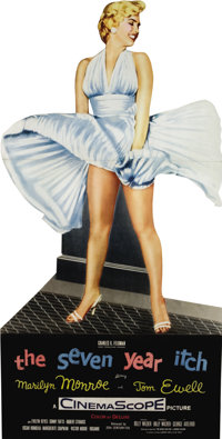 "The Seven Year Itch (20th Century Fox, 1955). Standee (40"" X 78""). Of all of the displays and advertising mate..."