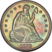 1870 $1 Dollar, Judd-1020, Pollock-1155, Low R.7--Altered Surface--NCS. Proof (PR60 Details)....(PCGS# 61268)