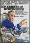 "Movie Posters:War, The Caine Mutiny (Columbia, R-1960s). German A1 (23"" X 33"").War...."