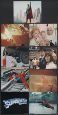 """Movie Posters:Action, Superman the Movie (Warner Brothers, 1978). Deluxe Mini Lobby CardSet of 9 (8"""" X 10""""). Action.... (Total: 9 Items)"""