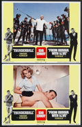 """Movie Posters:James Bond, Thunderball/From Russia with Love Combo (United Artists, R-1968). Lobby Cards (2) (11"""" X 14""""). James Bond.... (Total: 2 Items)"""