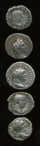 Ancients:Ancient Lots  , Ancients: Lot of five Roman Provincial and Imperial AR.... (Total: 5 coins)