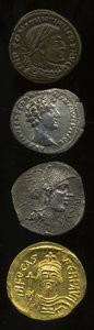 "Ancients:Ancient Lots  , Ancients: Lot of four coins, originally marketed by G & MAntiquities as ""The Roman Antiquities Set.""... (Total: 4 coins)"
