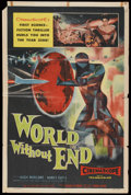 "Movie Posters:Science Fiction, World Without End (Allied Artists, 1956). One Sheet (27"" X 41""). Science Fiction...."
