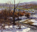Paintings, VALOY EATON (American, b. 1938). In February, 1985. Oil on canvas. 11 x 13 inches (27.9 x 33.0 cm). Signed and dated low...