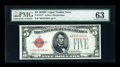 Small Size:Legal Tender Notes, Fr. 1527* $5 1928B Legal Tender Note. PMG Choice Uncirculated 63.. ...