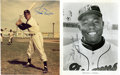 Autographs:Photos, Willie Mays and Hank Aaron Signed Photographs Lot of 2.... (Total:2 items)