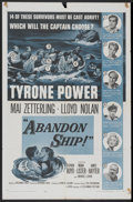 "Movie Posters:Adventure, Abandon Ship! (Columbia, 1957). One Sheet (27"" X 41"").Adventure...."