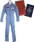 Movie/TV Memorabilia:Memorabilia, Joyce Jillson NASA Jumpsuit, Passport, Wallet and Documents.... (Total: 4 Items)