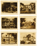 Prints, JOHN SLOAN (American, 1871-1951). Homes of American Authors (set of six), 1891. Etching on paper. 6-1/2 x 8-1/4 inches (... (Total: 6 Items)