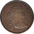 Large Cents, 1797 1C Reverse of 1797, Stems, S-123, B-12, R.4 MS64 BrownPCGS....
