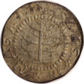 Colonials, 1652 SHILNG Pine Tree Shilling, Small Planchet--Environmental Damage--NCS. XF Details....