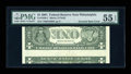 Error Notes:Inverted Reverses, Fr. 1926-C $1 2001 Federal Reserve Note. PMG About Uncirculated 55EPQ.. ...