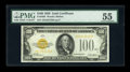 Small Size:Gold Certificates, Fr. 2405 $100 1928 Gold Certificate. PMG About Uncirculated 55.. ...