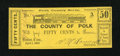 Obsoletes By State:Tennessee, Benton, TN- County of Polk 50¢ Apr. 1, 1863. ...