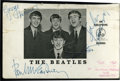 Music Memorabilia:Autographs and Signed Items, Beatles Signed Promo Card....