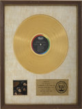 Music Memorabilia:Awards, Beatles Rubber Soul RIAA Gold Album Award....