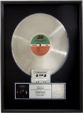 Music Memorabilia:Awards, Crosby, Stills, Nash & Young 4 Way Street RIAA Platinum AlbumAward....