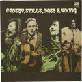 Music Memorabilia:Autographs and Signed Items, Crosby, Stills, Nash & Young Band Signed Album(1971)....