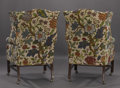 Movie/TV Memorabilia:Memorabilia, Glenn Ford's Pair of Wing-Backed Chairs with Table.... (Total: 3 Items)