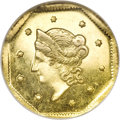 California Fractional Gold, 1854 $1 Liberty Octagonal 1 Dollar, BG-508, High R.4, MS63Prooflike NGC....