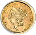 California Fractional Gold, 1864 50C Liberty Round 50 Cents, BG-1016A, R.8 MS63 PCGS....