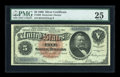 Large Size:Silver Certificates, Fr. 262 $5 1886 Silver Certificate PMG Very Fine 25....