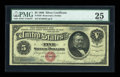 Large Size:Silver Certificates, Fr. 259 $5 1886 Silver Certificate PMG Very Fine 25....