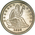 Seated Quarters, 1838 25C No Drapery MS63 NGC....