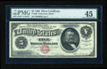 Large Size:Silver Certificates, Fr. 260 $5 1886 Silver Certificate PMG Choice Extremely Fine 45....