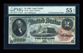 Large Size:Legal Tender Notes, Fr. 42 $2 1869 Legal Tender PMG About Uncirculated 55 EPQ....