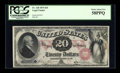 Large Size:Legal Tender Notes, Fr. 128 $20 1875 Legal Tender PMG Choice About Unc 58 EPQ....