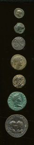 Ancients:Ancient Lots  , Ancients: Lot of seven Greek, Roman Provincial and Roman ImperialAE.... (Total: 7 coins)