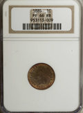 Proof Indian Cents: , 1885 1C PR66 Red and Brown NGC. Diagonal obverse streaks of green, orange, and magenta toning complement potent luster and ...