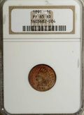 Proof Indian Cents: , 1891 1C PR65 Red NGC. A nice, reflective piece with intermittent tan-gold, fuchsia, and golden-orange hues, all still well ...