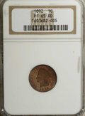 Proof Indian Cents: , 1892 1C PR65 Red NGC. A sharp strike complements the mellow orange-red surfaces on each side. A few flecks appear on the re...