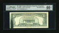 Error Notes:Ink Smears, Fr. 1969-L $5 1969 Federal Reserve Note. PMG Extremely Fine 40Net.. A BEP produced green ink smear of approximately one inc...