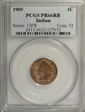 Proof Indian Cents: , 1909 1C PR66 Red and Brown PCGS. The series-ending proof mintage was a modest 2,175 coins. This piece is one of 23 so grade...