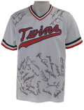 Autographs:Jerseys, 1983 Minnesota Twins Team Signed Jersey. The Minnesota Twins from the early 1980s built a franchise that would go on to win...